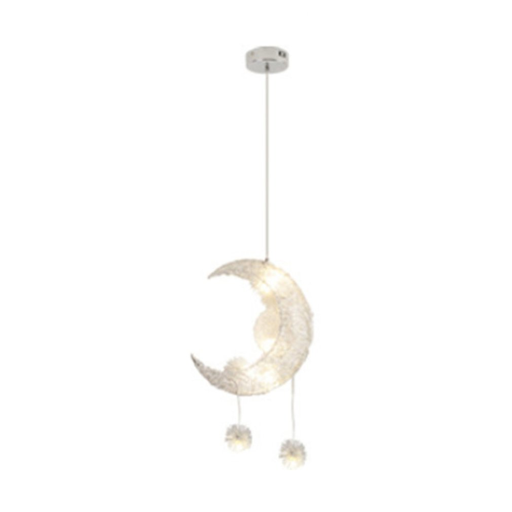 Romantic Moon Star Children Bedrooms Ceiling Lamp Chandelier Pendant Lamp Chandeliers LED Star Adjustable Hanging Lights