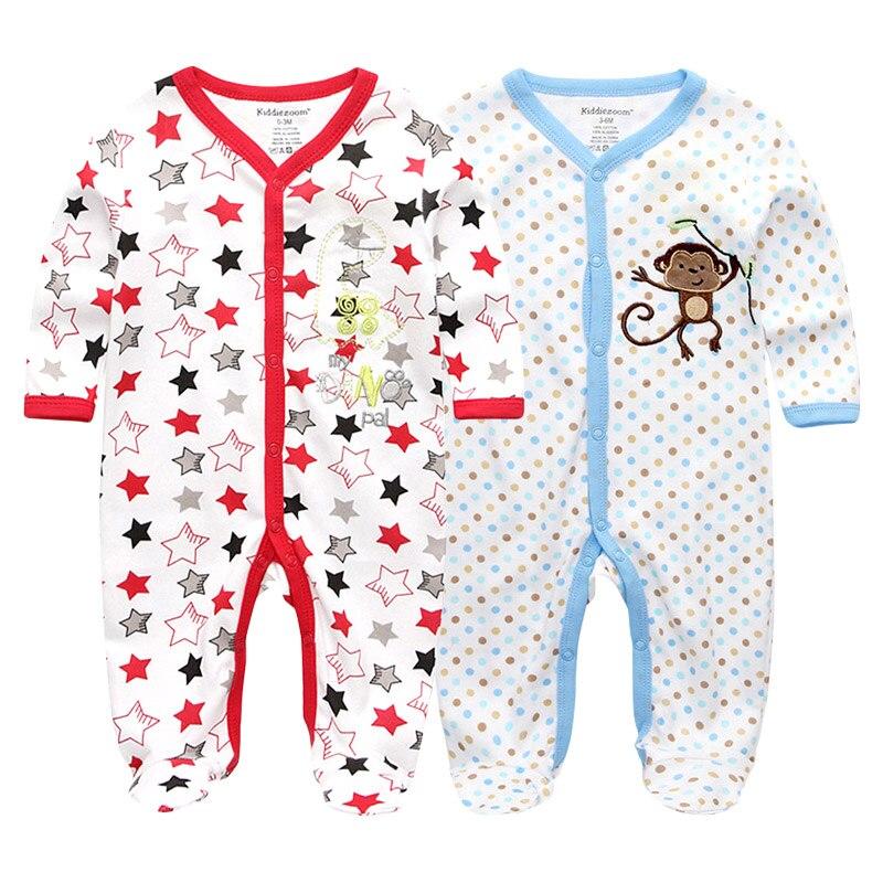 Baby Boy   Rompers   Summer Newborn Pajamas Clothes 100%Cotton 3 6 9 12 Months Long Sleeve Roupas de bebe Jumpsuits Infant Product