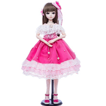 все цены на Princess Anna bjd doll 1/3 60 cm sd doll set DIY collection girl doll gift for age 8 years older онлайн