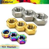 m5 m6 m8 m10 titanium hexagon nuts 20pcs/lot , Gr5 Titanium Alloy Nut , TC4 Titanium Alloy Fasteners