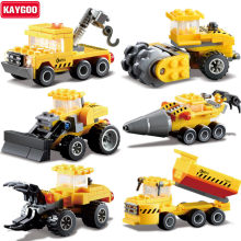 Kaygoo Engineering Truck Car Building Blocks Bricks Construction Enlighten Best Kids Xmas Gifts Toys For Children Birhthday Gift(China)