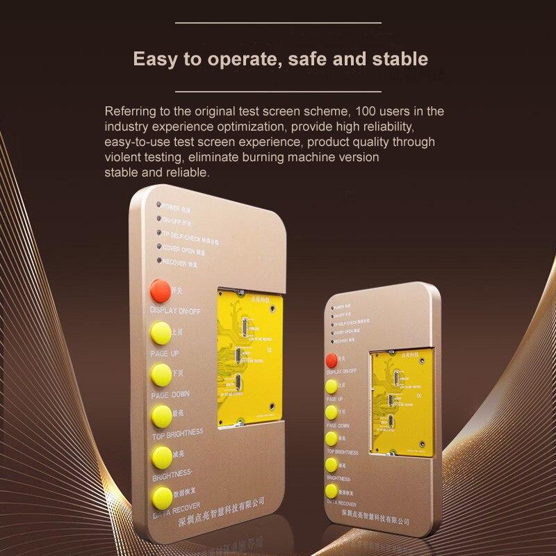 ЖК дисплей DL100, тестовая плата для iPhone 6S XS MAX, 3D сенсорный дисплей, восстановление оригинального цвета, тестирование