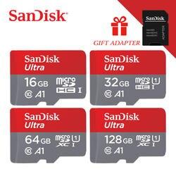 Оригинальный популярный SanDisk MicroSD карта TF карта 16 ГБ 32 ГБ 64 Гб 128 Гб Высокая скорость/качество карта памяти для samrtphone