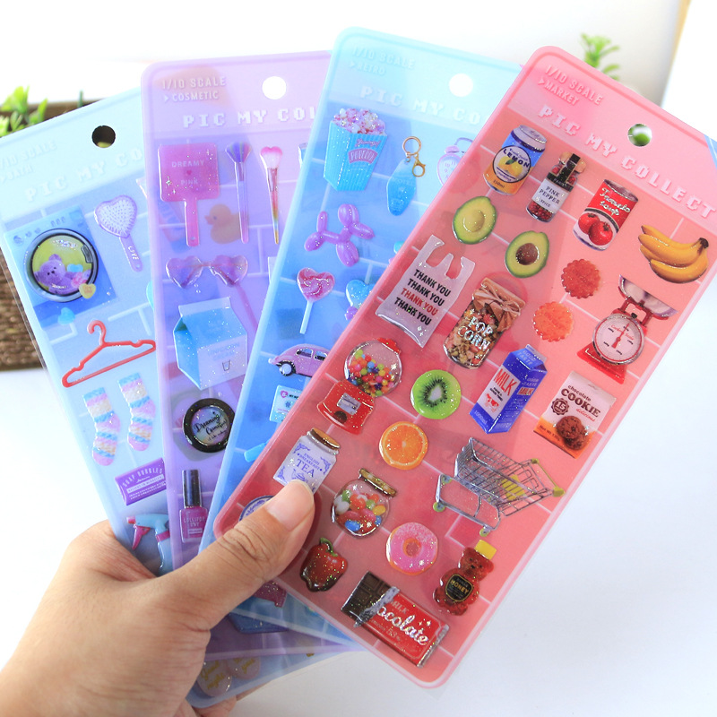 1pcs Dream Epoxy Crystal Diary Stationery Stickers Decorative Mobile Stickers Scrapbooking DIY Craft Stickers