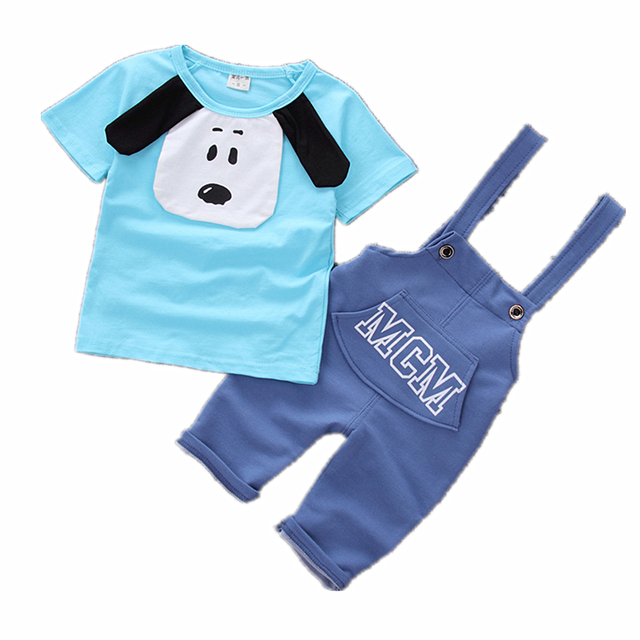 46473a43a7ca Baby Boy Clothes Summer Hot sale 2018 New fashion dog style cotton material  high quality children clothing set A010
