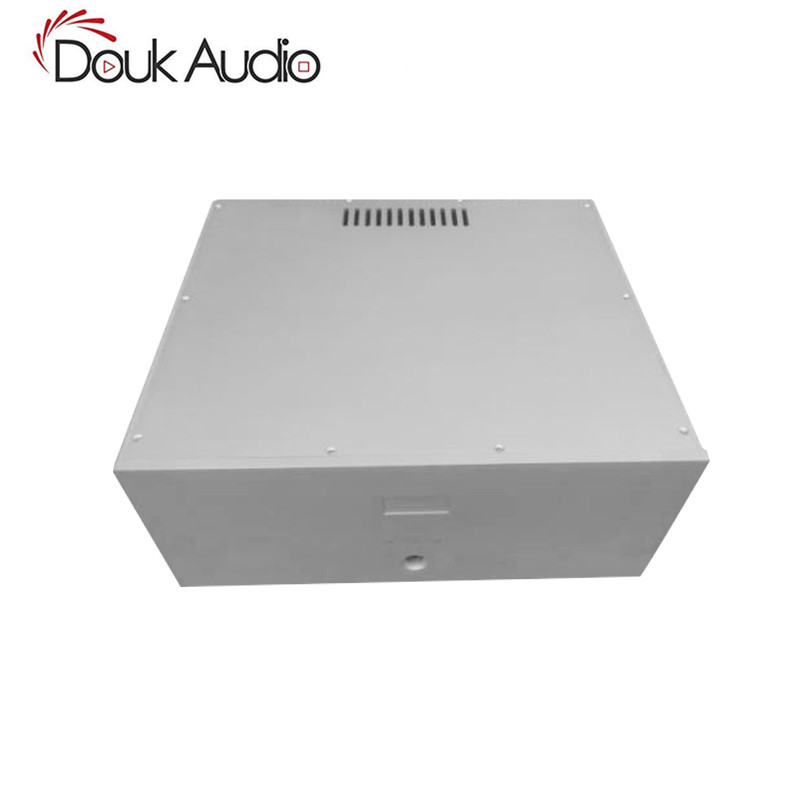 Douk Audio Power Amplifier Chassis White Aluminum Case DIY Enclosure Box douk audio front panel radiating aluminum chassis power amplifie cabinet diy case black box