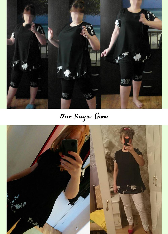 HTB1tz6cOFXXXXc1XXXXq6xXFXXXG - Plus Size 5XL Chiffon Blouse Women Clothing Loose Short Sleeve