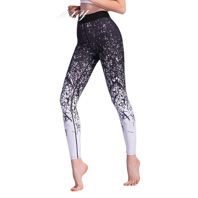 <+>  Женские спортивные леггинсы с принтом Упругие узкие брюки для йоги Талия Сексуальные леггинсы для йо ✔