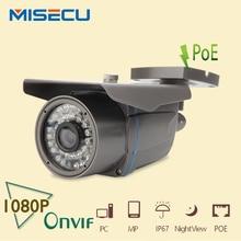 MISECU POE Camera 1920*1080P 2.0MP IR Camera 36pcs 48V POE ONVIF Waterproof 36pcs IR Night Vision P2P security IP camera XMEye