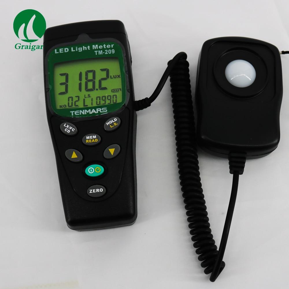 TENMARS TM-209M LUX FC Meter Light Tester Multi-Color LED Light Intensity Nw
