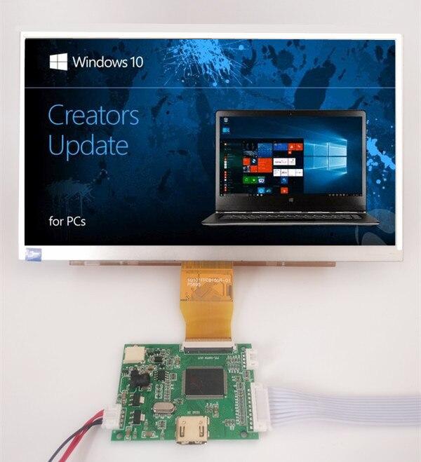 10.1 pouces 1024*600 Écran D'affichage LCD TFT Moniteur avec Télécommande Panneau de Contrôle Du Pilote HDMI pour Orange Framboise Pi 3