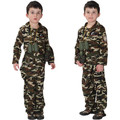 Free Shipping Boys Special Force Clothes Army Costume Kids Camouflage Uniform Halloween Carnival Children Cosplay Fancy Dress