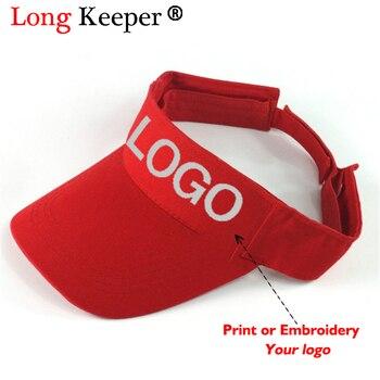 Long Keeper 2018 al por mayor de visera sombreros hombres ajustable  personalizado Net Caps logotipo personalizado de impresión sombreros  adultos regalo 10 ... 62396ec1a6c