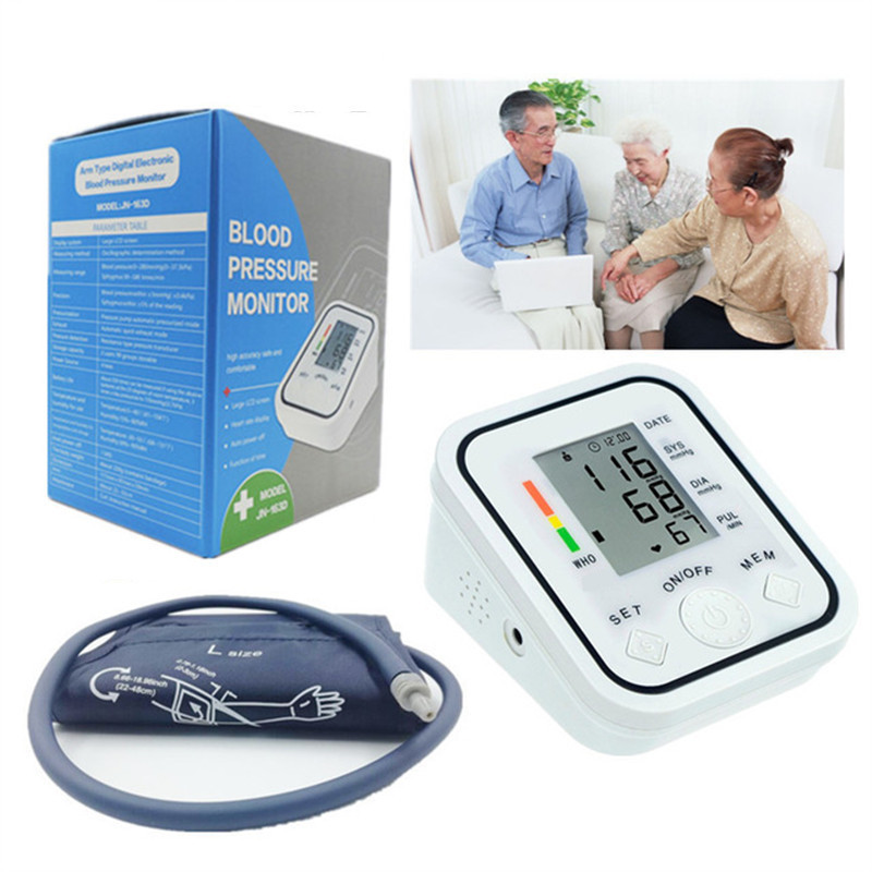 Sale Digital Upper Arm Blood Pressure Monitor Heart Beat Meter Pulse Machine Tonometer For Measuring Automatic Sphygmomanometer
