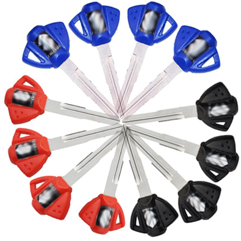 LOPOR 48pcsLot Motorcycle Blank Key Uncut Blade For GSR750 DR650SE SV650S SV1000S TL1000R Bandit GSX1300R GSXR600