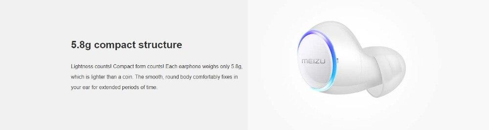 Meizu POP TW50 True Wireless Bluetooth Earphones 5.8g Mini TWS Sport Bluetooth V4.2 Headset For iphone 7 Plus auricular H0 (7)