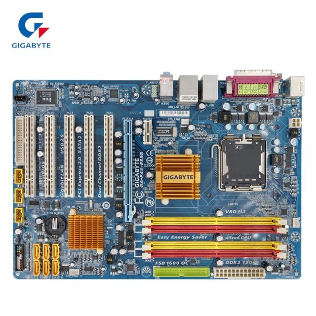 Gigabyte GA-P43-ES3G REV 1.0 Original Used Desktop Motherboard P43-ES3G P43 Socket LGA 775 DDR2 ATX On Sale