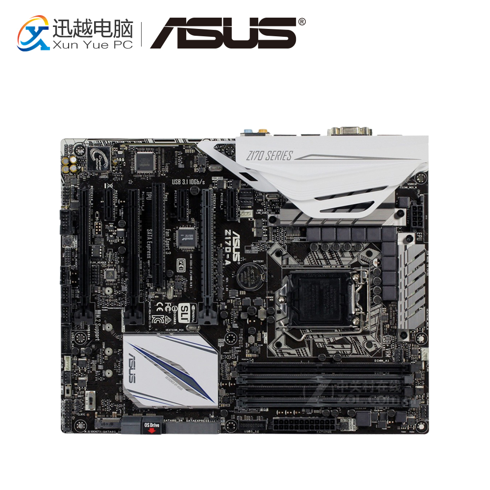 Asus Z170-A Desktop Motherboard Z170 Socket LGA 1151 i7 i5 i3 DDR4 64G SATA3 USB3.0 ATX On Sale for msi z170a krait gaming 3x original new desktop motherboard for intel z170 socket lga 1151 for i3 i5 i7 ddr4 64g sata3 atx
