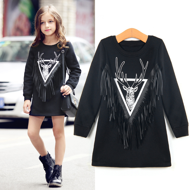 a81045e85 Spring Big Girls Dresses Tassel Clothes Children s Kids Dresses ...