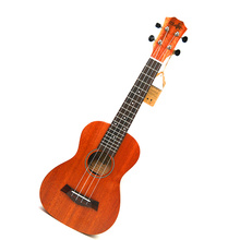 23″ Concert Ukulele Mini Hawaiian Guitar Mahogany Body Fishbone pattern Electric Ukulele with Pickup EQ Stringed Instruments