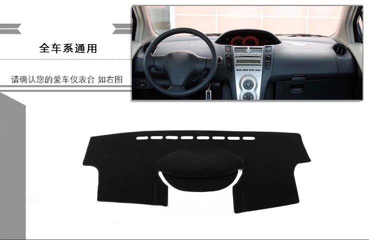 For Toyota <font><b>Yaris</b></font> L <font><b>2008</b></font> to 2016 Car Dashboard pad Cover Avoid Light Pad Instrument Platform Dash Board Cover Mat image