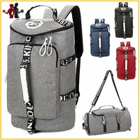 Quality 2 in 1 Gym Bag Malfunction Tote Sport Bags with Shoes Storage Outdoor Travel Anti Theft Backpack and Tote