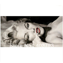 Pure hand-drawn OIL PAINTING ARTMARILYN MONROEON CANVAS 20x36  free shipping