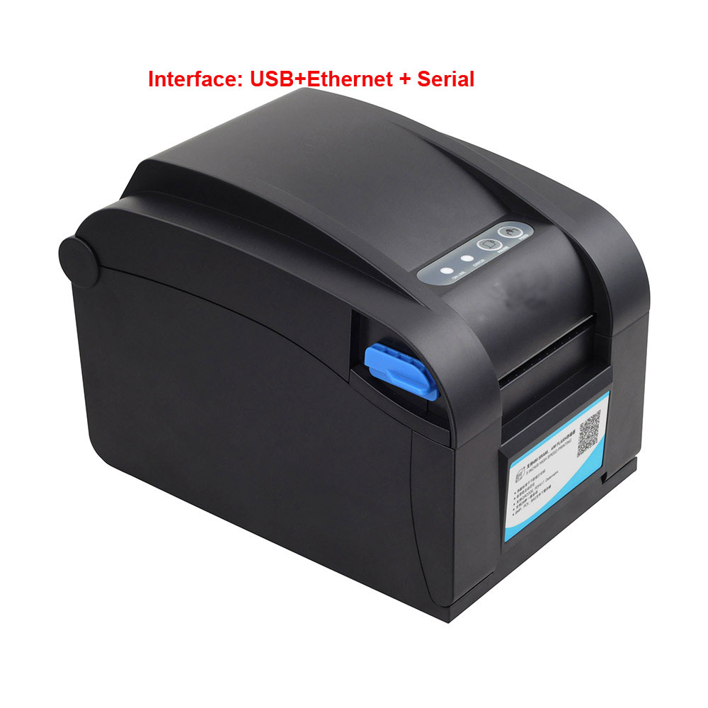 все цены на New arrived original Qr code barcode printer sticker printer Thermal adhesive label printer suit paper width between 20mm-82mm онлайн