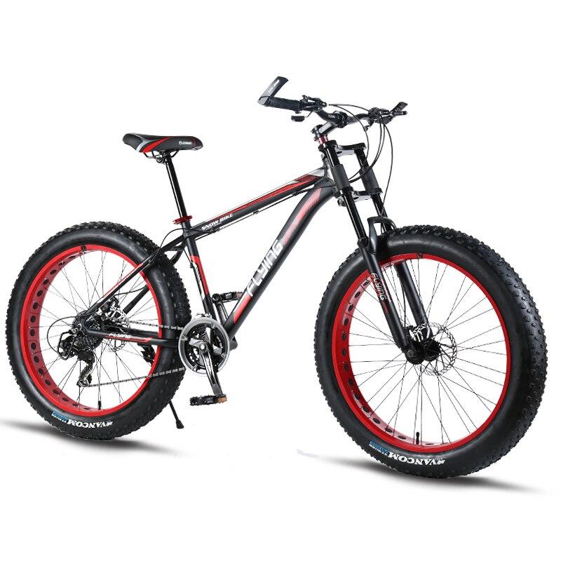 """Bicicleta de Montaña de aluminio de bicicletas 26 pulgadas/7/21/24 velocidad bicicleta de carretera 26x4,0 """"doble disco los frenos grasa bicicleta"""