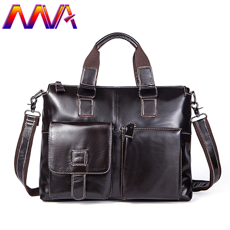 Mva Men Briefcase Cheap Price Leather Men Crossbody Bag Cowhide Leather Men Briefcase 100% Genuine Leather Men Briefcase