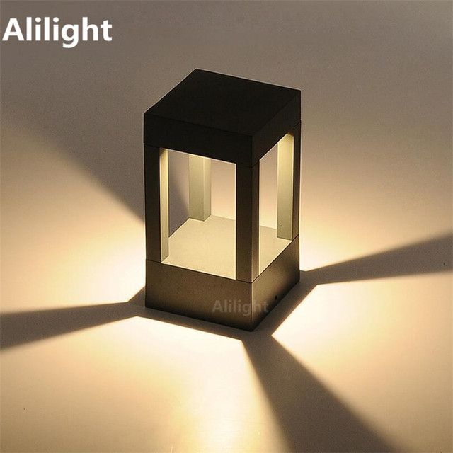 Modern Waterproof Pillar Lamp Fence Lights Column Lights ...
