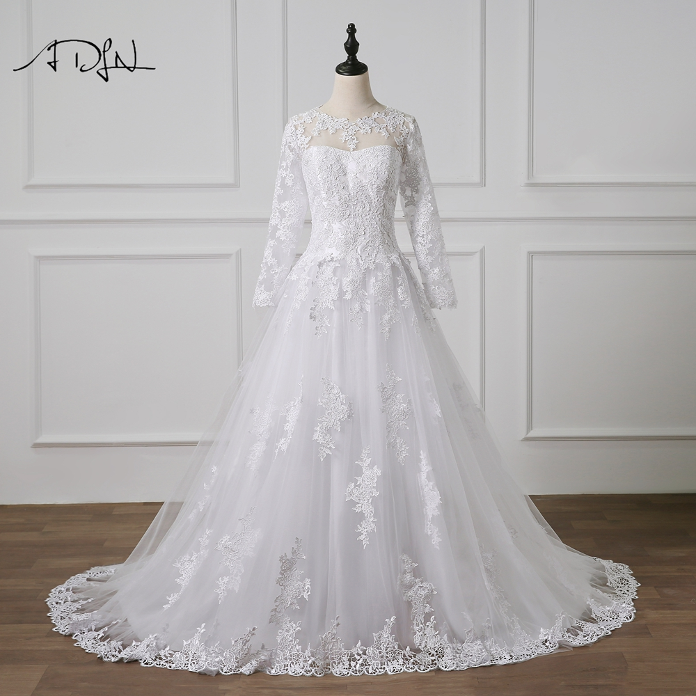 Detail Feedback Questions about ADLN Romantic Lace Wedding Dresses ... 70d02b816ad5