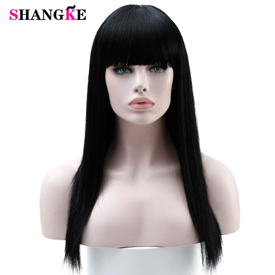 SHANGKE 22 '' hosszú haj paróka nők szintetikus paróka nők hőálló hamis haj darabok női frizurák
