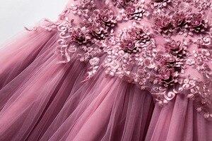 Image 5 - Cielarko Flower Girls Dress Wedding Party sukienki dla dzieci perły formalna suknia 2018 wieczorowe stroje dla dzieci Tulle Girl Frocks