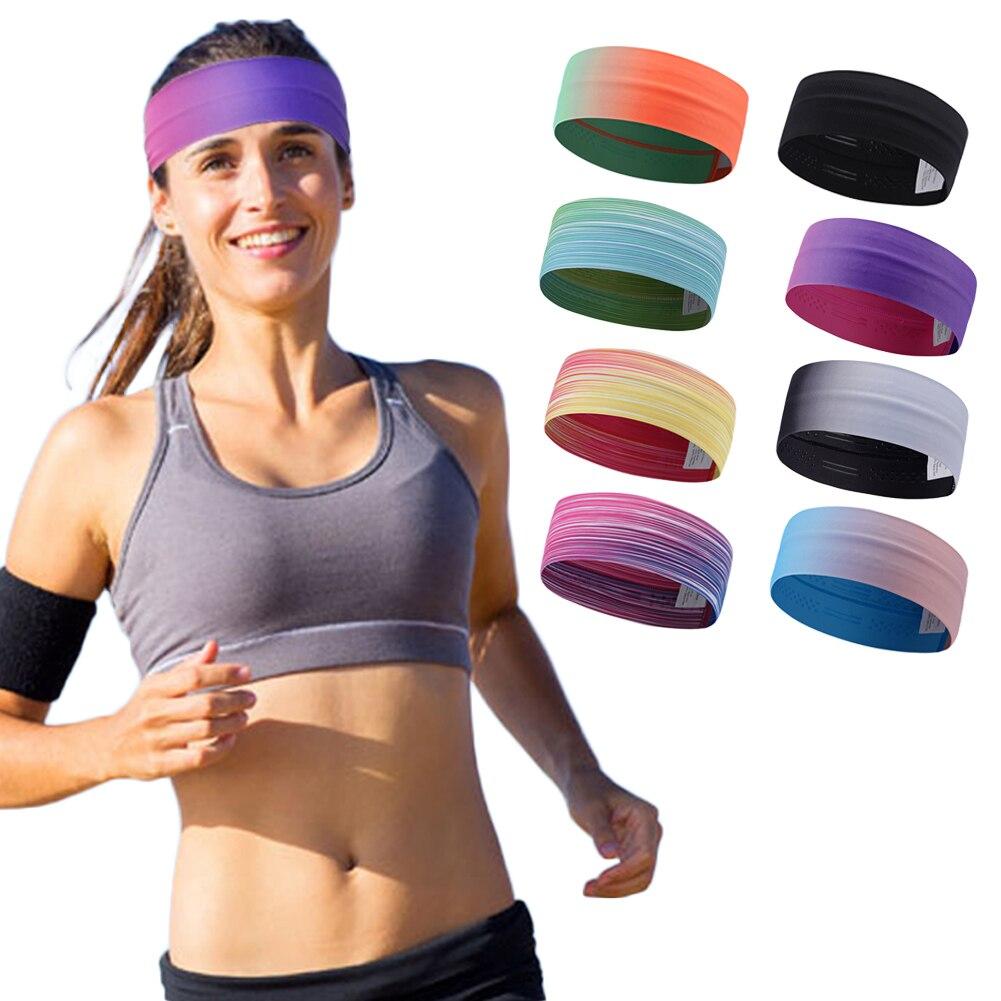 NEW Popular Women Men Color Sport Sweat Band Sweatband Headband Hair Band Yoga Band Stretchy Sweatbands Headbands