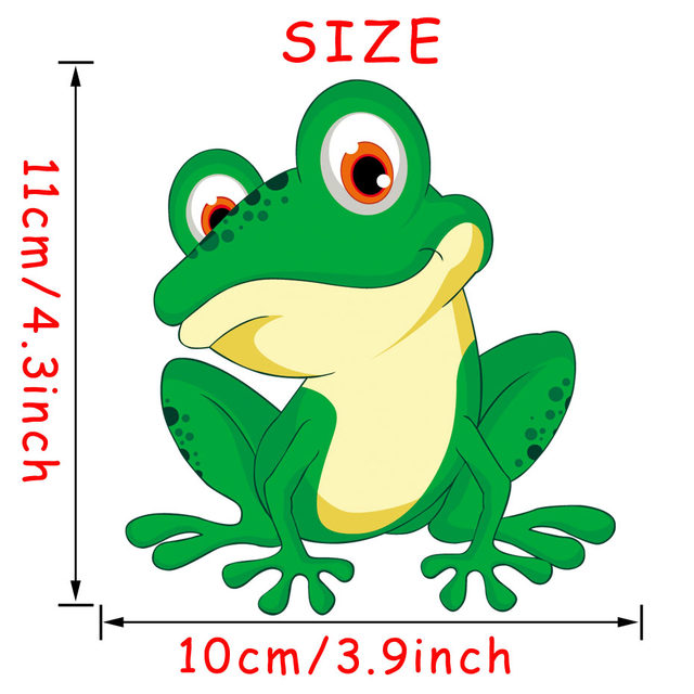 Online Shop Green Frog Fridge Stickers 3D Cartoon Frog Wall Decal ...