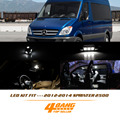 AMG 11 Pcs For 2012-2014 Sprinter 2500 White License plate Map lights Dome lights Interior LED Light Package Kit