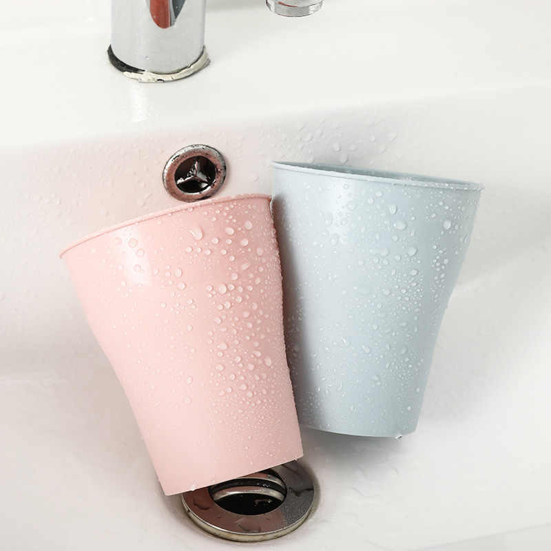 Solid Brass Home Bathroom Gargle Cup Toothbrush Holder Water Cups Rack