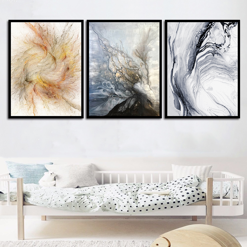 Direct Selling Canvas Painting Nordic Abstract Prints Calligraphy Home Hallway Decoration Wall Artwork Pictures Poster Modular