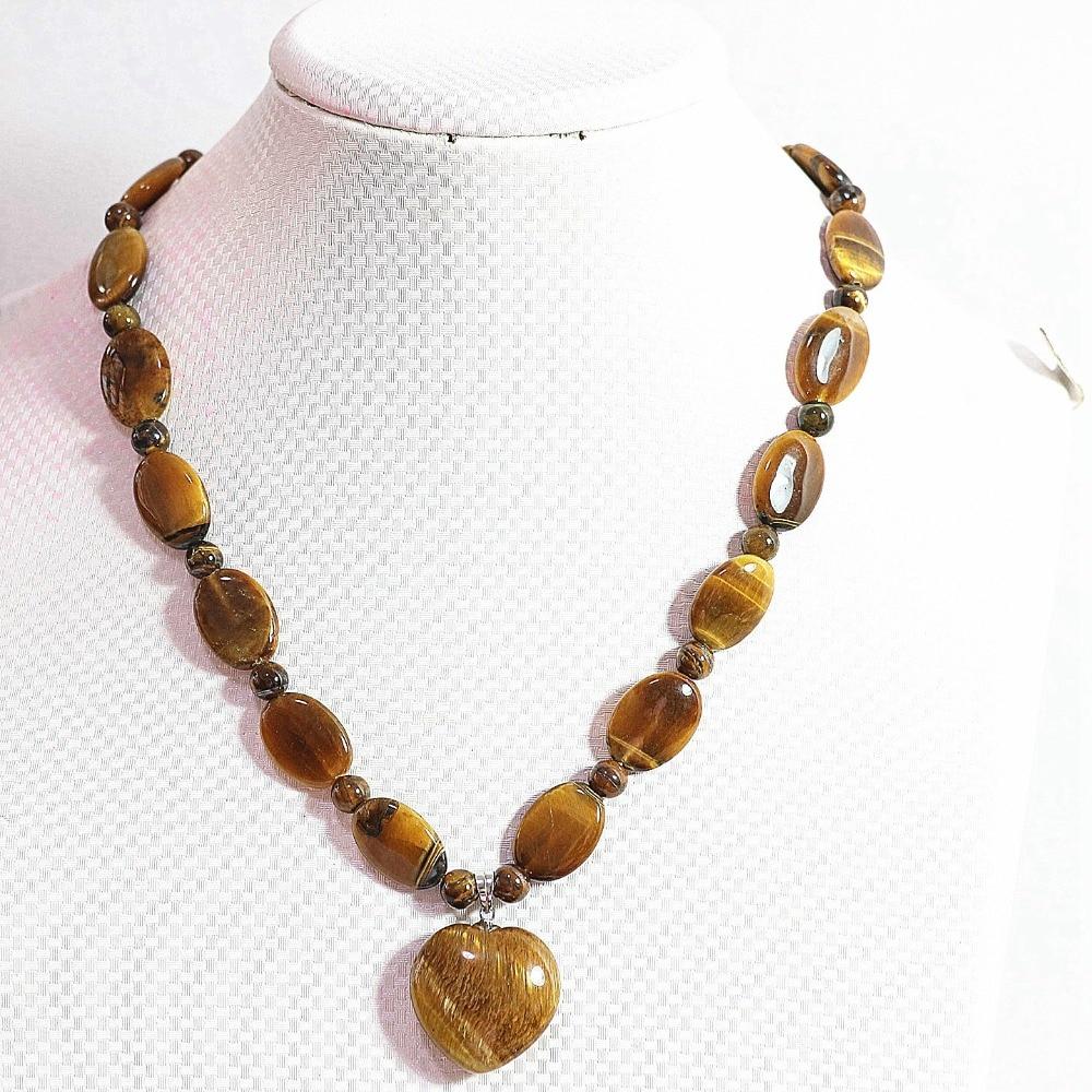 """13x18mm Saphir Bleu Plat Ovale Perles Gemstone Collier 18/"""""""