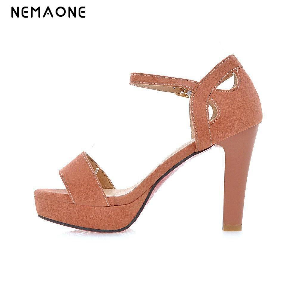 NEMAONE 2017 Fashion Women Heels Sexy High Heels Peep Toe Platform Sandals For Prom Shoes Woman High Heels Sandals Stilettos fashion peep toe and platform design sandals for women