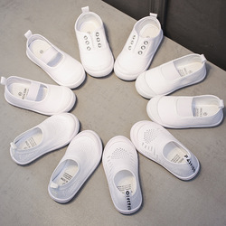 2019 Autumn Infant Toddler Shoes Girls Boys Casual Canvas White Shoes Soft Bottom Breathable Slip-On Kid Baby Sneakers Shoes