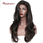#4 Color Big Wave Synthetic Lace Front Wigs Fashion Natural Long Wave Wigs For Women Heat Resistant Hair Wig 180 Density