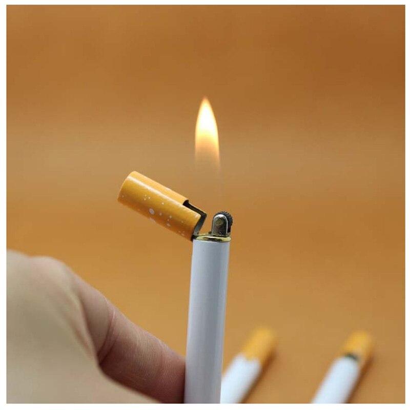 Divat kreatív Mini cigaretta alakú Bután láng könnyebb fém fáklya könnyebb újdonság Gadget Ajándék karácsonyi ajándék NO GAS