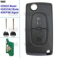 WALKLEE Car Remote Key 433MHz Fit For Citroen C2 C3 C4 C5 Berlingo Picasso CE0523 ASK