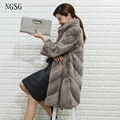Noble Mink Fur Coat Real Fur Pelt With Twill Cut Long Clothes Coat Thick Mandarin Collar Slim Style 3XL 4XL Size Customized 8007