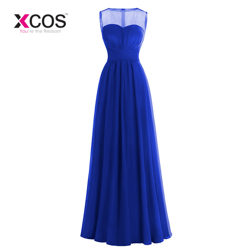 Royal Blue   Bridesmaids     Dresses   Elegant Gorgeous Sexy Scoop Red Black Long 2018 New Arrival Purple Wedding Party Gown
