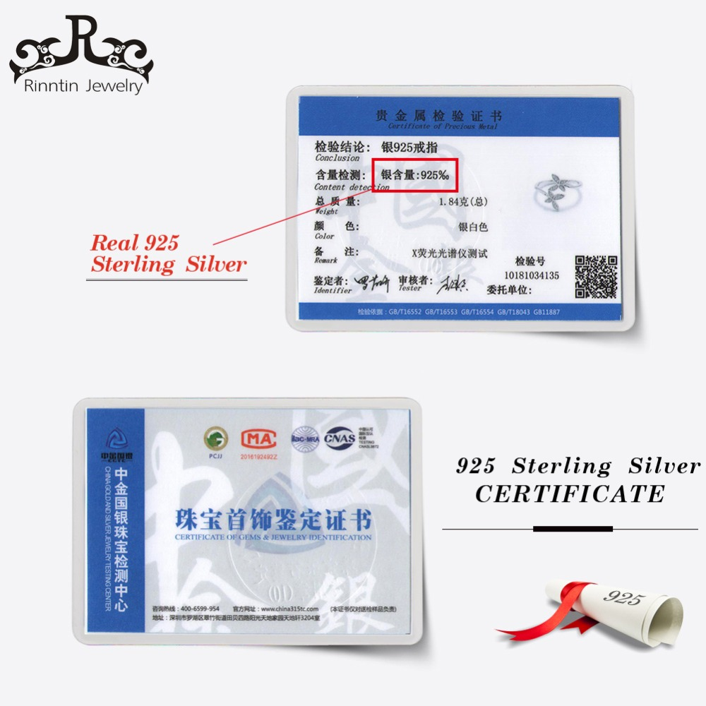 Rinntin Sterling Silver 925 Trendy CZ Kristal Kəpənək Güllü - Gözəl zərgərlik - Fotoqrafiya 6