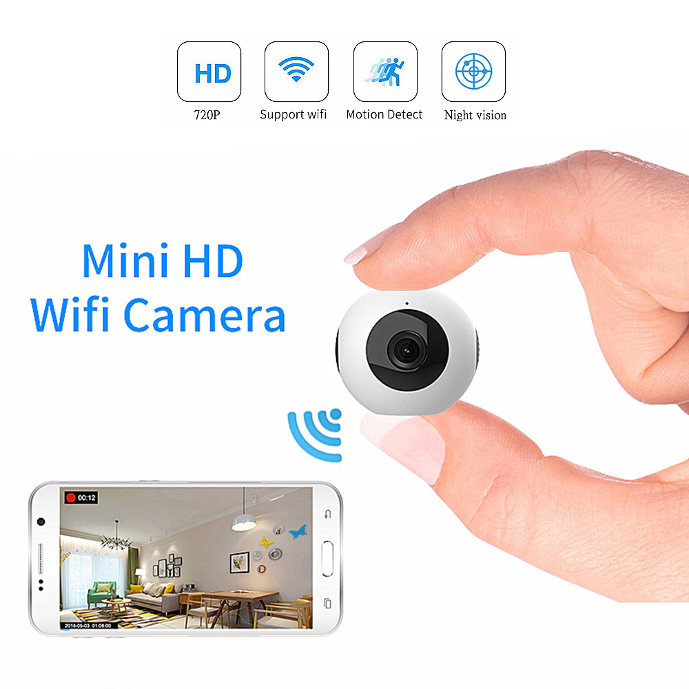 CAMSOY Mini Nachtzicht Camera Wifi IP Infrarood Surveillance Video Draadloze HD 720 P DV DVR Beveiliging Camcorder Babyfoon-in Mini-camcorders van Consumentenelektronica op  Groep 1