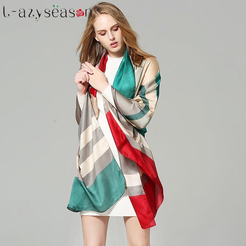 2017 Luxury brand Silk Scarf women Shawls Wraps summer Print soft Long size Scarves Lady pashmina bandana foulard hijab